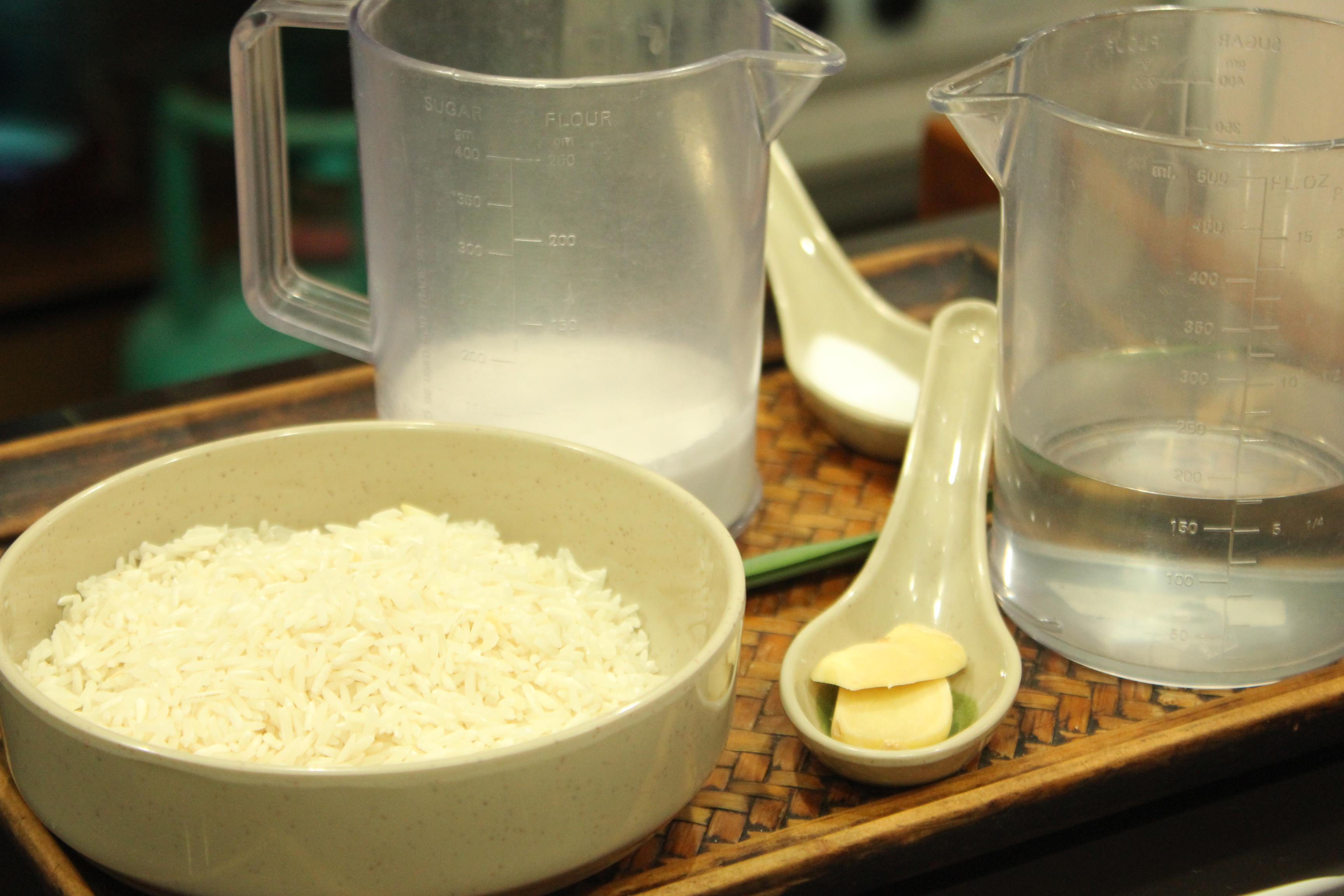 Nasi Lemak basic ingredients