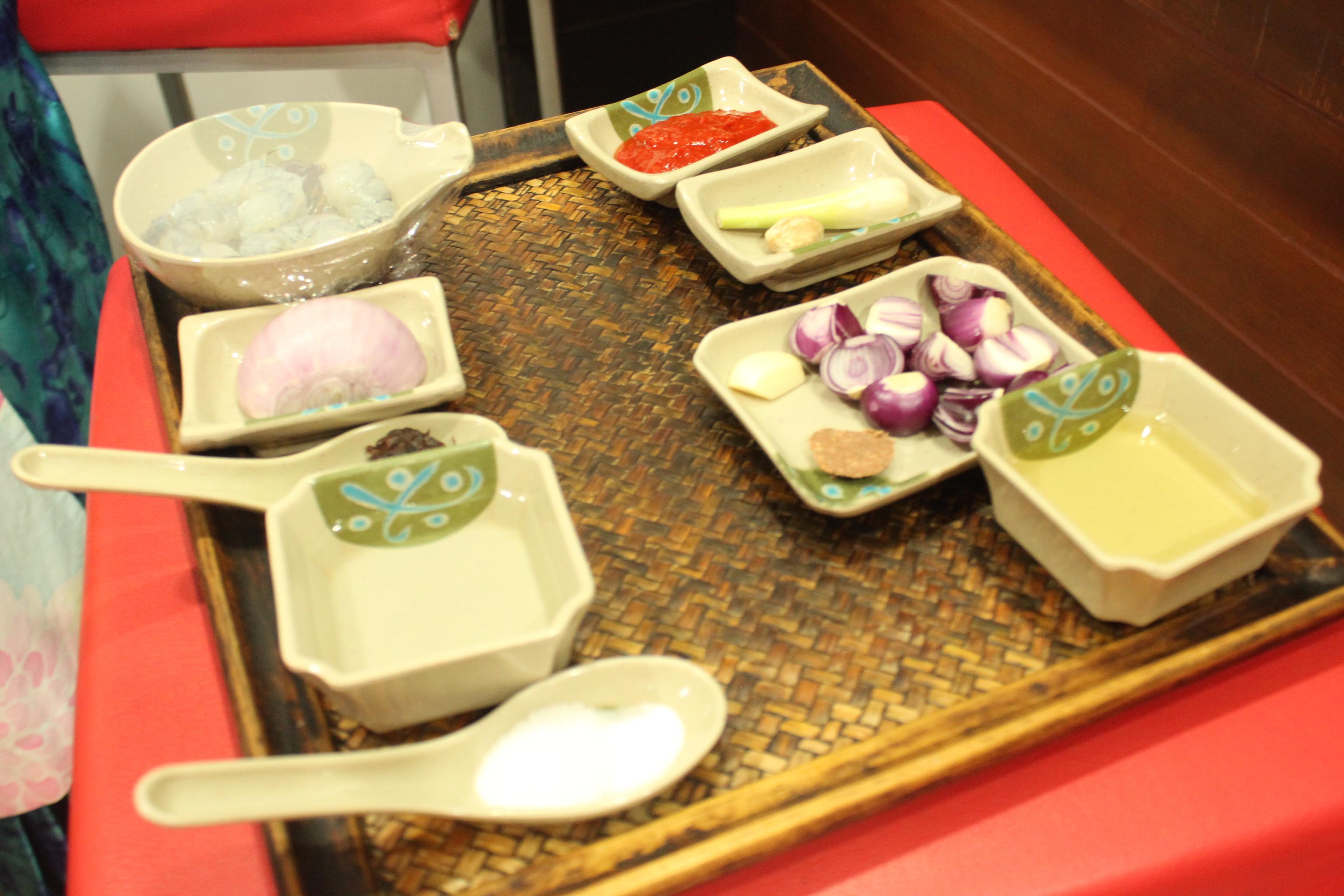 Sambal Udang ingredients